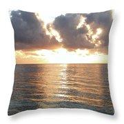 Cancun Sunrise Throw Pillow