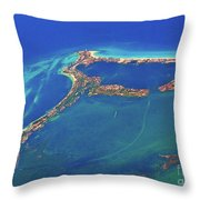 Cancun Wide By Air Throw Pillow