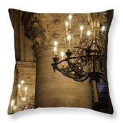 Candelabra At Notre Dame Throw Pillow