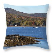Candem Harbor Throw Pillow