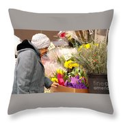 Candid Age Throw Pillow