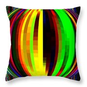 Candid Color 4  Throw Pillow