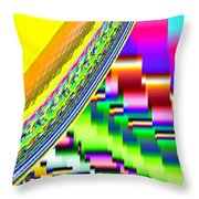 Candid Color 6 Throw Pillow