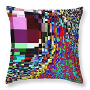 Candid Color 7 Throw Pillow