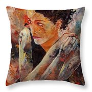 Candid Eyes Throw Pillow by Pol Ledent