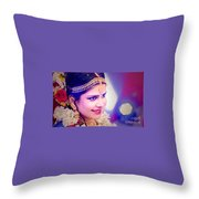 Candid Wedding Photography Pronojit Click Throw Pillow