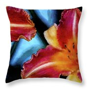 Candied Daylilies 1230 Dp_2 Throw Pillow