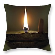 Candle 2 Throw Pillow