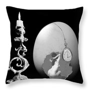 Candle And Egg Throw Pillow