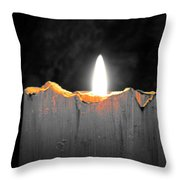 Candle Color Throw Pillow