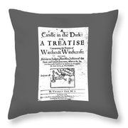 Candle In The Dark Throw Pillow