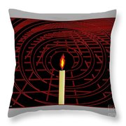 Candle Of Faith And Hope Throw Pillow