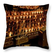 Candle Offerings St. Patrick Cathedral Throw Pillow