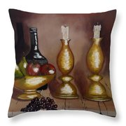 Candle Sticks Throw Pillow