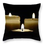 Candle Trio Throw Pillow