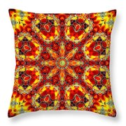 Candle Wood Throw Pillow