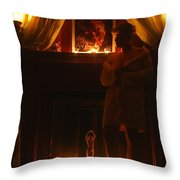Candlelight Glow Throw Pillow
