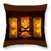 Candlelight Love Throw Pillow