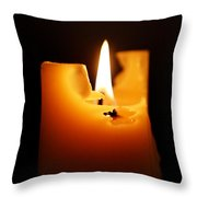 Candlelight Throw Pillow by Rona Black