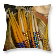Candles 1 Throw Pillow