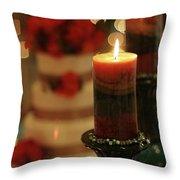 Candles And Cake Throw Pillow