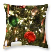 Candles For Christmas 2 Throw Pillow