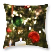 Candles For Christmas 3 Throw Pillow