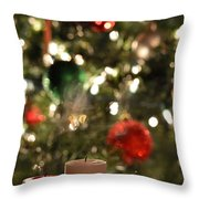 Candles For Christmas 4 Throw Pillow