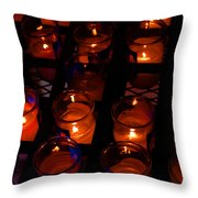 Candles For Mother Maria Throw Pillow