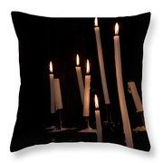 Candles Throw Pillow