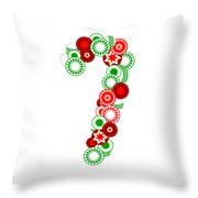 Candy Cane - Christmas Ornaments - Holiday Season Throw Pillow