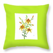 Candy Cane Lily Throw Pillow