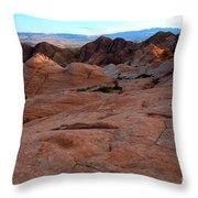 Candy Cliffs Sunset Throw Pillow