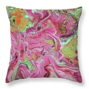 Candy Coated- Abstract Art By Linda Woods Throw Pillow