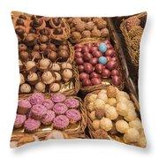 Candy Delights - La Bouqueria - Barcelona Spain Throw Pillow
