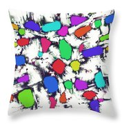 Candy Scatter Throw Pillow