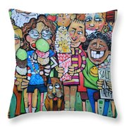 Candy Store Kids Throw Pillow