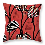 Candy Stripe Tulips 2 Throw Pillow