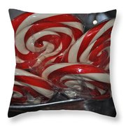 Candycane Lolli Throw Pillow