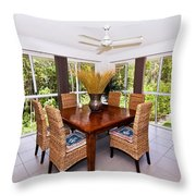 Cane Dining Setting Throw Pillow