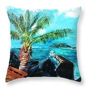 Cane Garden Bay Tortola 1997 Throw Pillow
