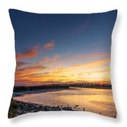 Canho De Sancti Petri San Fernando Cadiz Spain Throw Pillow