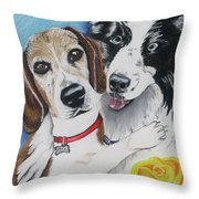Canine Friends Throw Pillow