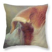 Canine Salvation Throw Pillow