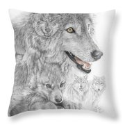 Canis Lupus V The Grey Wolf Of The Americas - The Recovery  Throw Pillow