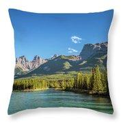Canmore Alberta Golden Hour Throw Pillow