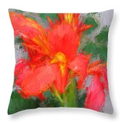Canna Lily 3 Throw Pillow