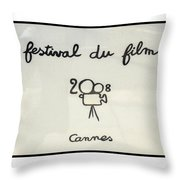 Cannes 2008 Throw Pillow