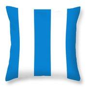 Cannes Stripes, Blue Throw Pillow