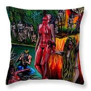 Cannibal Holocaust Throw Pillow